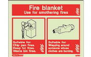 6376D/R - FIRE BLANKET EXTINGUSHER IDENTIFICATION SIGN 150 x 200mm